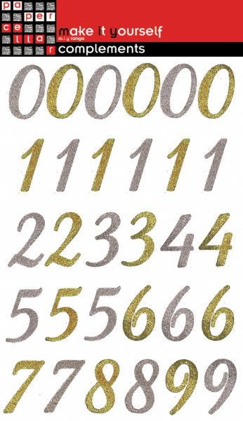 Paper Cellar Complements Glitter Numbers Metallics